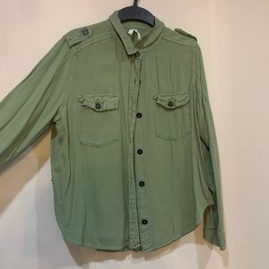 Green Button-up